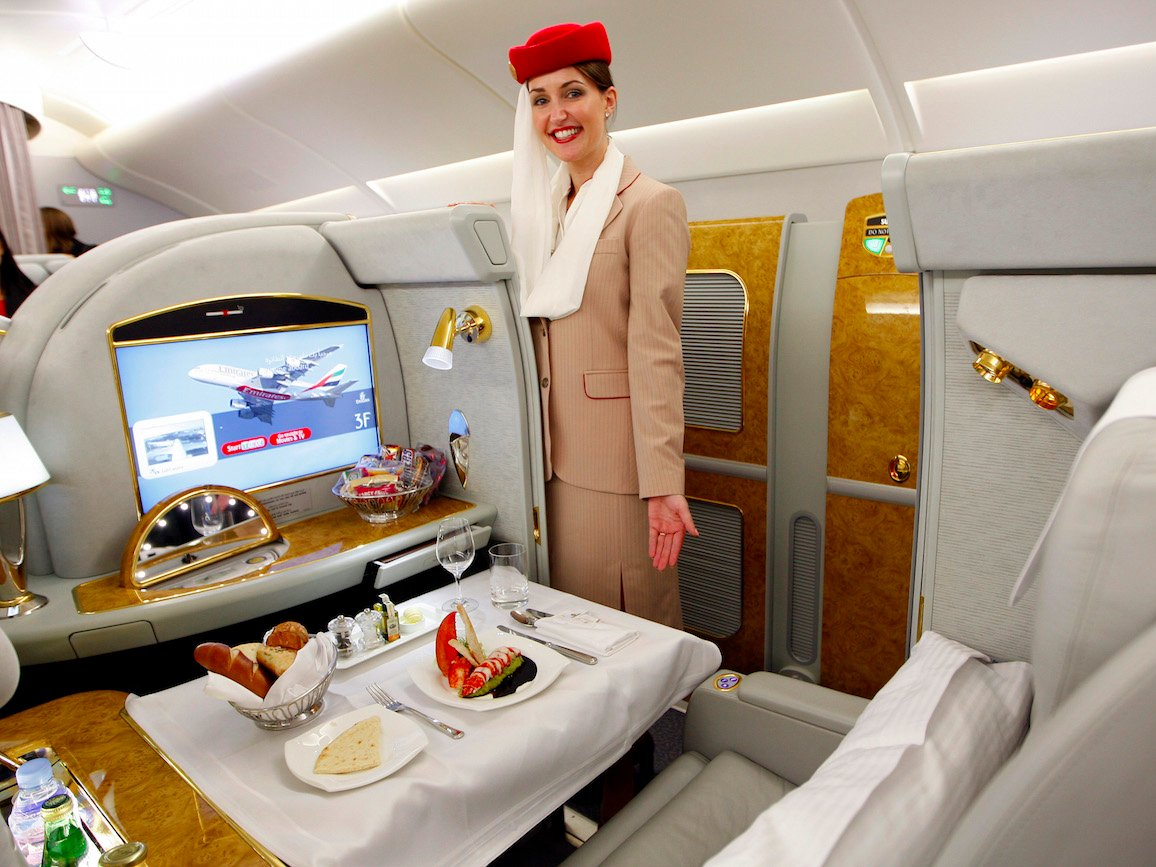 Suites privadas en Emirates First Class
